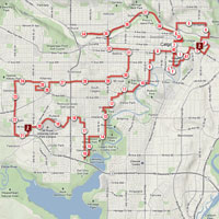 Scotiabank Calgary Marathon Tracker developed by Zyris