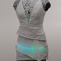 Sequilux, wearable technology LED Light Dress by Zyris