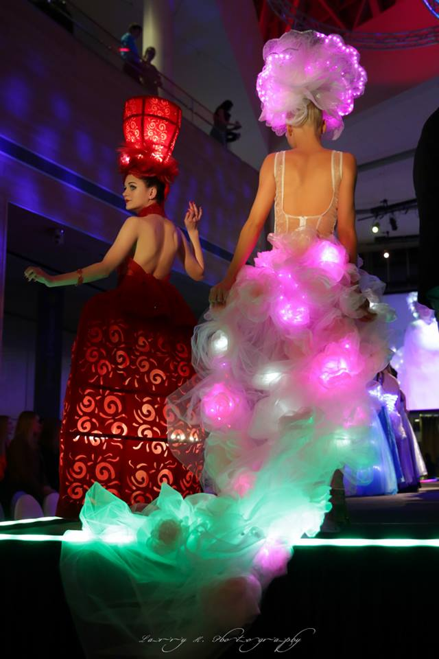 MakeFashion Gala Wearable Technology Haute Couture Dresses 2 by Kiki Beletskaia and Zyris.