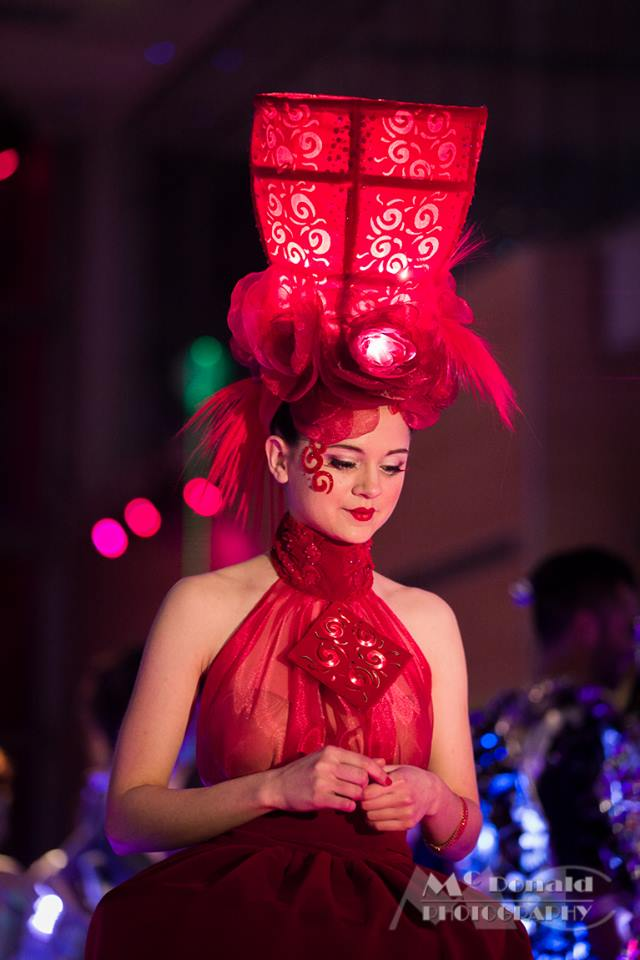 MakeFashion Gala Wearable Technology Japanese Doll Haute Couture Dress 2 by Kiki Beletskaia Zyris. McDonald Photography