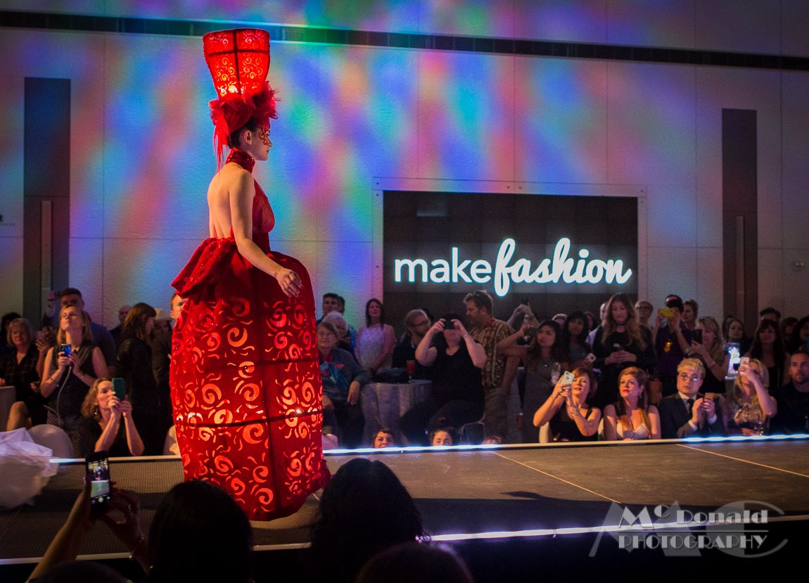 MakeFashion Gala Wearable Technology Japanese Doll Haute Couture Dress 3 by Kiki Beletskaia Zyris. McDonald Photography