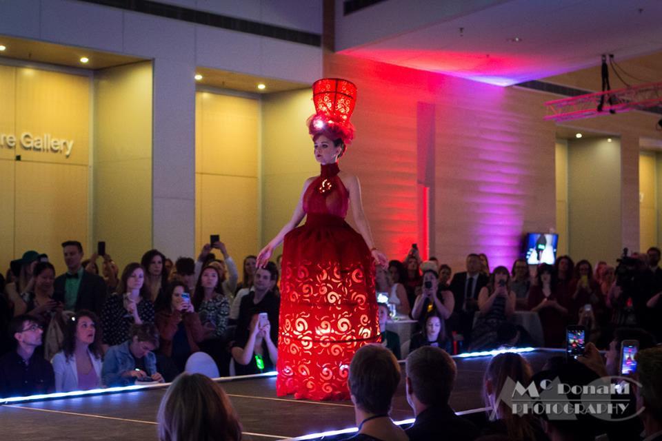 MakeFashion Gala Wearable Technology Japanese Doll Haute Couture Dress 4 by Kiki Beletskaia Zyris. McDonald Photography
