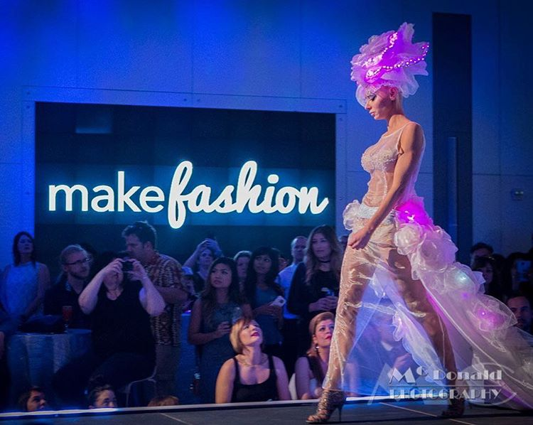 MakeFashion Gala Wearable Technology Snow Queen Haute Couture Dress 2 by Kiki Beletskaia Zyris. McDonald Photography