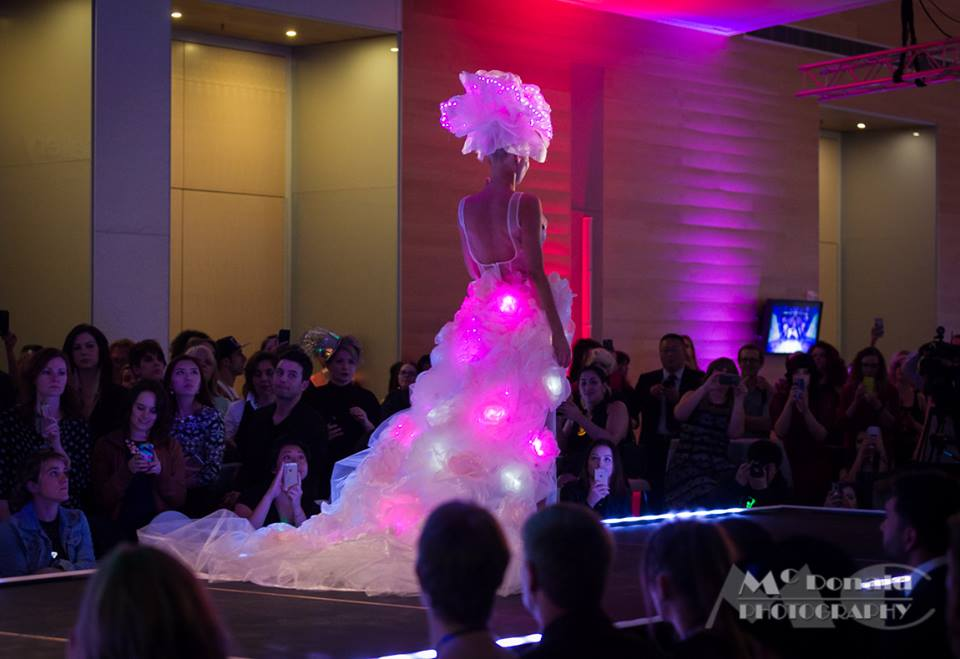 MakeFashion Gala Wearable Technology Snow Queen Haute Couture Dress 4 by Kiki Beletskaia Zyris. McDonald Photography