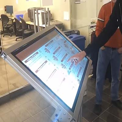 Barcamp multitouch voting interface developed by Zyris