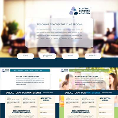 Custom WordPress Template for Elevated Learning Academy developed by Zyris