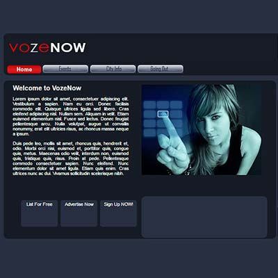 VozeNow Media Web application software product by Zyris